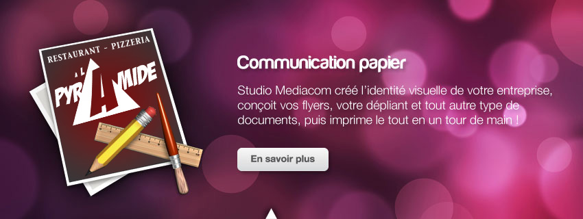 Studio Mediacom Photographie Web Imprimerie Sticker Duplication CD DVD Agence Communication